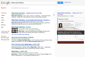 Betsy Ross Coaching Google results
